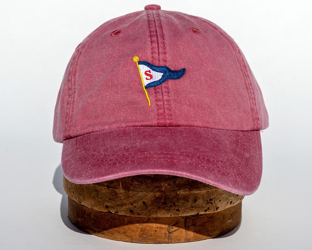 Nantucket red soft cap